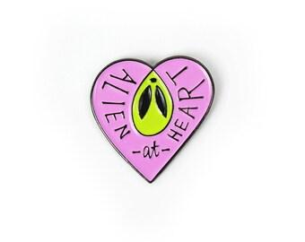 Enamel Pin // Alien at Heart