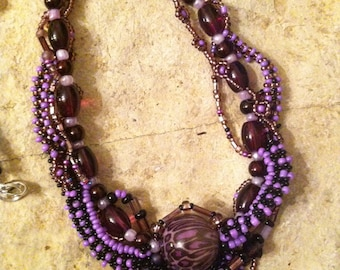 Purple Whimsy   necklace