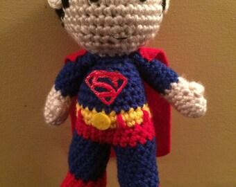 Ready to Ship Super Man Dc  Inspired Amigurumi Doll