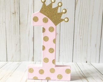 Princess party, Pink and Purple party,  Pink and gold  birthday, Block number, First birthday decor, Age number