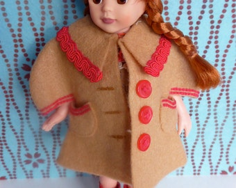 Vintage, Handmade DOLL COAT and Two DRESSES for all 8-9in/20-23cm dolls like Blythe, Bjds, Ginny, Kripplebush Kids, Riley Kish, Tonner, etc