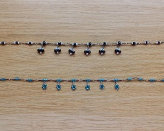 Dangle bead anklet/bracet
