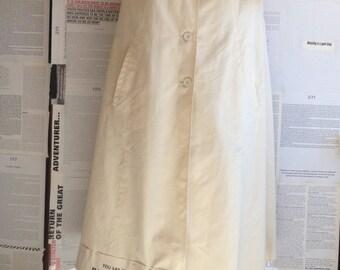 vintage coat, white coat, vintage, altered, work in progress , size 10