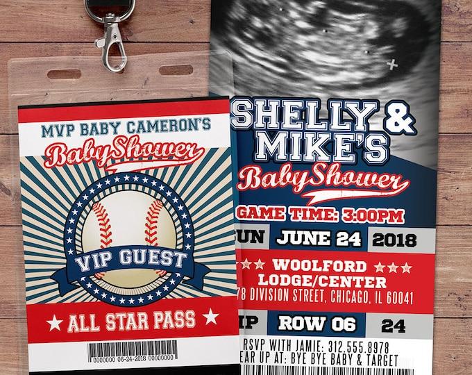 Baseball baby shower Invitation, All Star Little Slugger Baby Shower, MVP invitation, sports, baseball invitation,