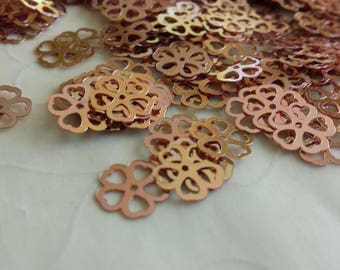 New Item -- 7g of 9x9 mm Cherry Flower Sequins in Copper Color