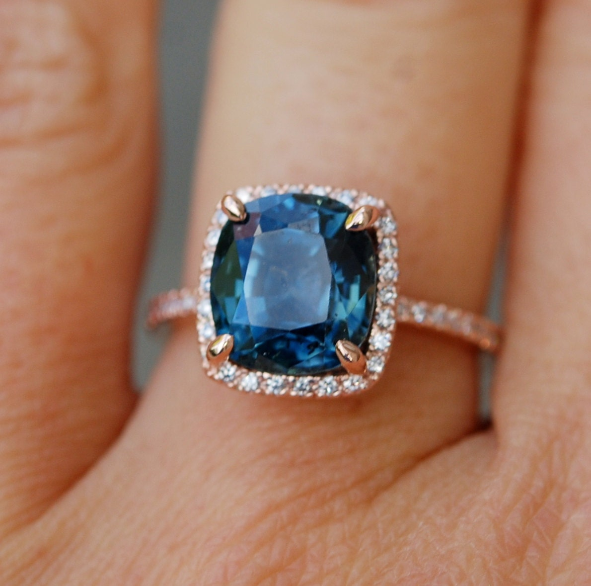 engagement carat montana sapphire diamond for rings encrusted an pops soft fit this a green of ring against and ocean blue its no that heat has beautiful