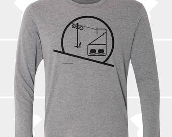 Sunrise / Sunset Chairlift - Unisex Long Sleeve Shirt