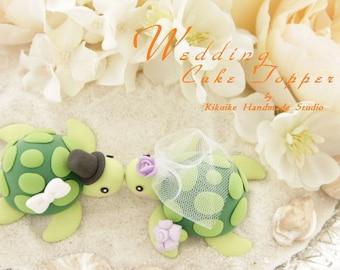 turtles Wedding Cake Topper for 1 pair---k616