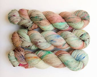 Sugar Hiccup - micro-striping speckled indie sock yarn on FAUNUS 80/20 BFL/nylon sock - ready to ship