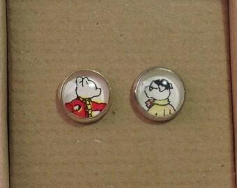 Vintage Rupert Annual Stud Earrings