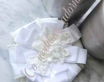 Set of 2 klee-la assyrian/chaldean lace wedding adornment