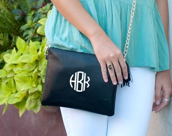 Black Kendall Purse, Personalized Bag