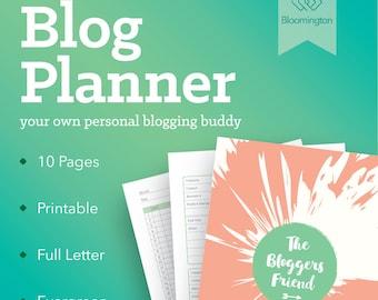 Blog Planner / Printable Blog Organizer / Social Media Planner / Blogging Journal / Visual Schedule / To Do List // Instant Download