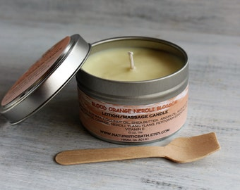 Blood Orange Neroli Blossom Lotion Candle, made with Organic Shea Butter, Cocoa, Mango Butters, Argan, Jojoba Oils, Essential Oils