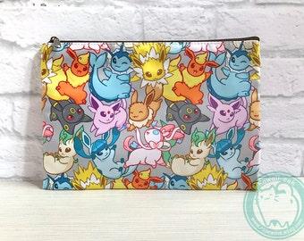 Pokemon Eeveelution Double Sided Zip Bag