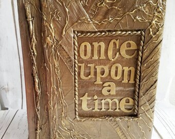 Fairytale Wedding Album, Enchanted Album, Once Upon A Time, Handmade Book, Personalized Book