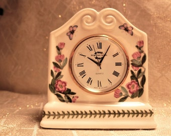 Portmeirion Porcelain Desk Clock Beautiful Botanical And Butterfly Pattern Made In England Quartz Movement Singapore Exceptional Gift