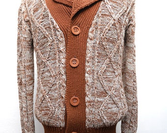 Vintage 70s Wool Cardigan Vest Sz.M