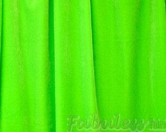 Lime Spandex Stretch Velvet fabric per yard