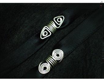 2 dreadlock Swirls in silver Dreadbeads Dreadschmuck dread Jewelry Dreadspiralen Dread Jewelry