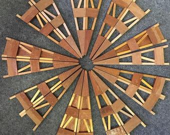 Handmade wood wing rib parts