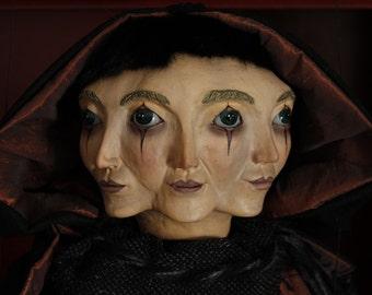 marionette Shadow marioneta puppet ooak artdoll títere