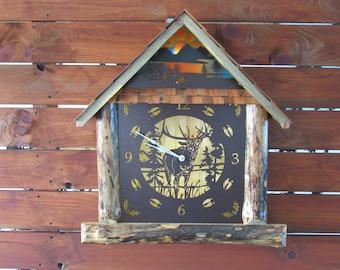 Rustic Cabin Clock