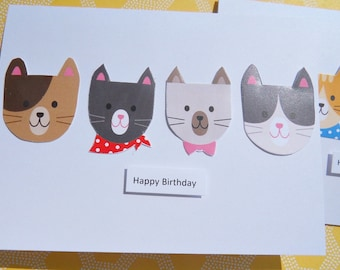 Cat Birthday Cards - Kitten Birthday Cards - Funny Birthday Cards - Kids Birthday Cards - Animal Cards - Cat Note Cards - kcc