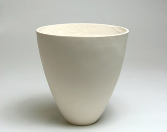 Porcelain Vessel with Textured Interior