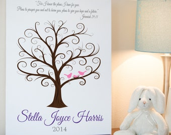 Baby Showers En Espanol ~ Baby shower fingerprint tree baby shower guest book