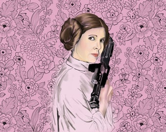 Princess Leia Star Wars Art Decor Poster Unique Star Wars Gift Wall Art Decor