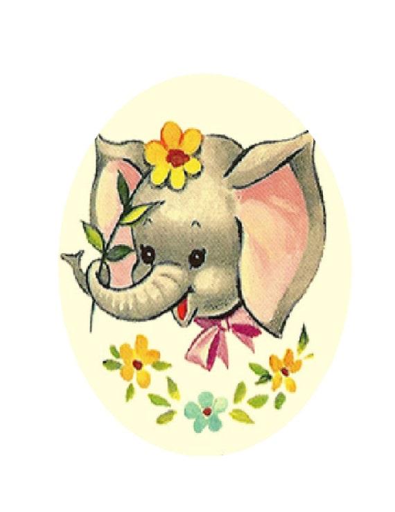Vintage Baby Elephant Cross Stitch Pattern PDF