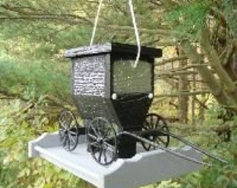 Amish Crafted Buggy Bird Feeder with cast aluminum wheels and shafts