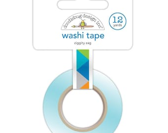 """Zig Zag Washi Tape """"Ziggity Zag"""" -Crafting Tape by Doodlebug Design for scrapbooking, supplies, card making, paper craft, boys birthday"""