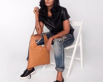 Vegan Leather Bag, Leather Shoulder Bag, Tan Leather Bag, Vegan Leather Tote, Leather Tote Bag, Vegan Shoulder Bag.