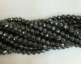 4MM,5MM,6MM,8MM,10MM faceted hemetite beads