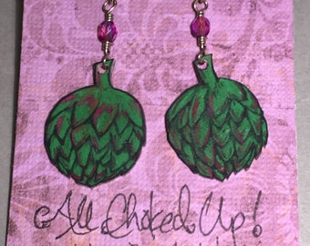 "Earrings ""All Choked Up"""