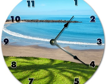 "10.5"" Beautiful COAST Clock - Living Room Clock - Large 10.5"" Wall Clock - Home Décor Clock - 4452"