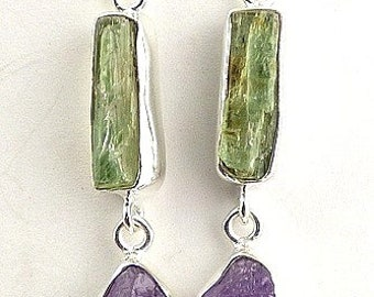BUCKLES of ears KYANITE, natural gemstone jewelry, kyanite, amethysts, aje1.2 earrings jewelry