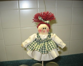 Primitive Annie Plant Poke Doll Digital Pattern from Sew Practical, Mom and Pop Craft