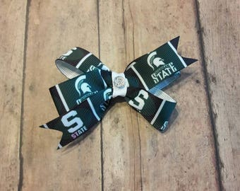 Michigan State classic hair bow.