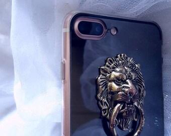 30% OFF (was 35) iPhone 6+, 7+(8+) Handmade Lion Mirror Phone Case