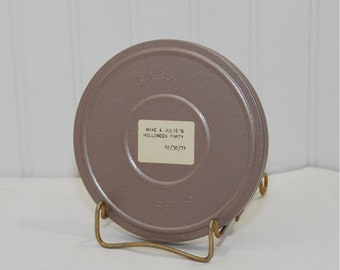 Vintage Super 8 Home Movie Mike & Julie's Halloween Party (c. 1971) Metal Scherer Film Reel and Container, Processed By Kodak, Vintage Fun