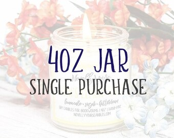 4oz jar   Single Purchase   Book Candle   Bookish Gift   Book Club   Reader, Bookworm, Bookish