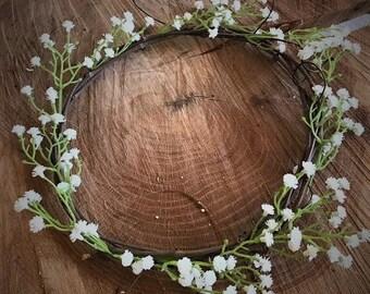 DIY Child's Flower Crown, Make your own kids crown, Wedding Crown, Grapevine Flower Crown, Custom Faux Flower Crown for children
