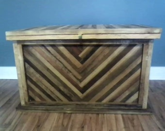 Wood Hope Chest, Hope Chest, Reclaimed Wood Trunk, Blanket Chest, Storage Bench, Wood Storage Chest, Wood Trunk, Trunk Coffee Table