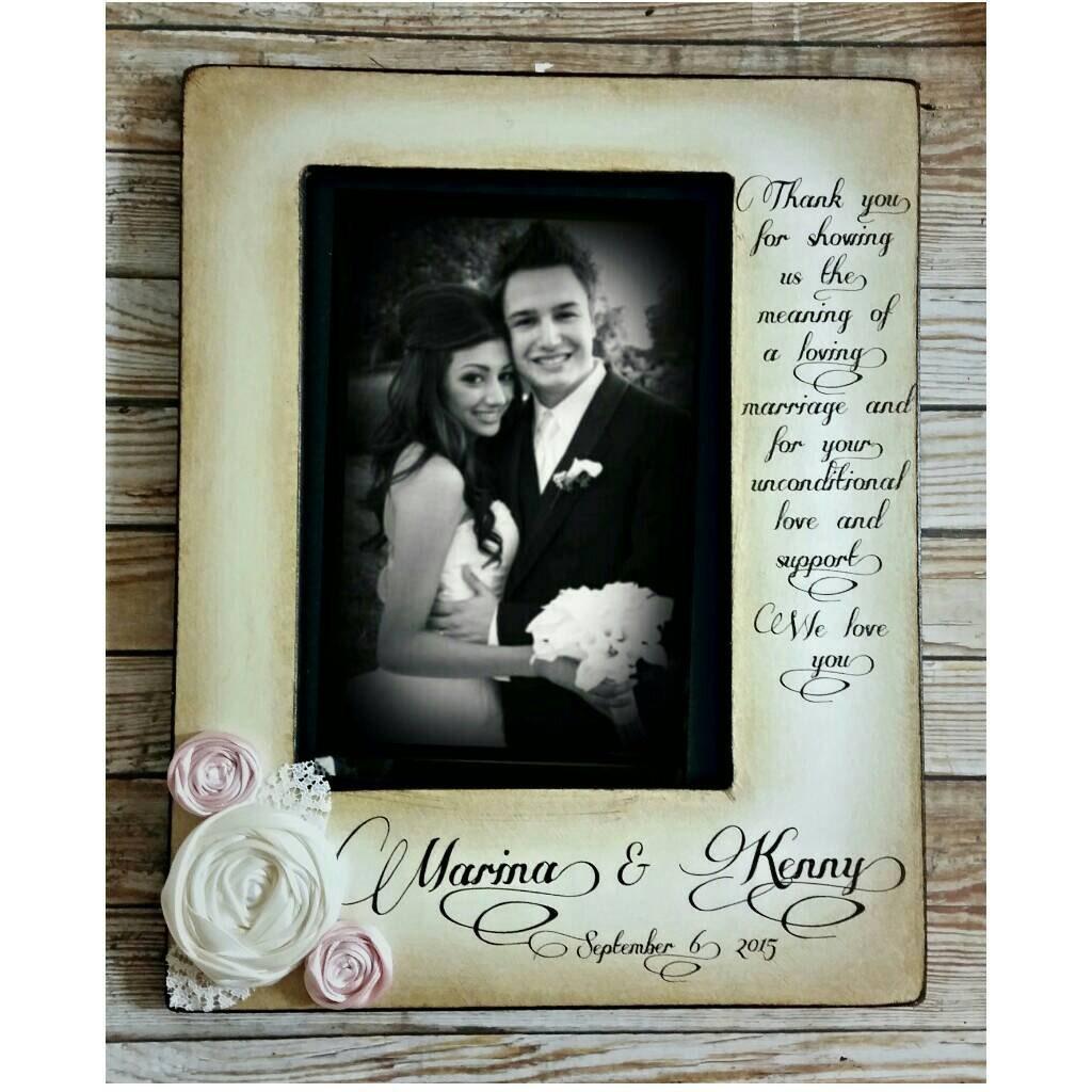 Vielen Dank Hochzeits-Bilderrahmen Eltern der Braut Bräutigam