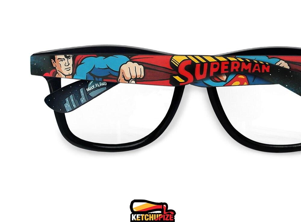 Superman Wayfarer glasses Unique birthday gift for boyfriend
