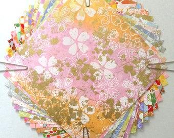 Japanese WASHI paper Origami YUZEN Chiyogami 15 sheets (Y024) 10x10cm