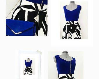 Black and white ethnic skirt